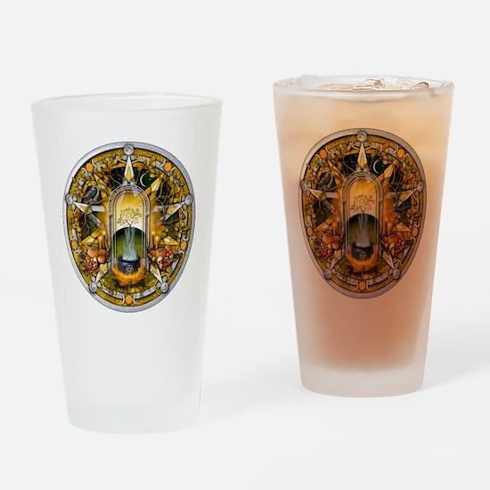 Samhain Pentacle Drinking Glass