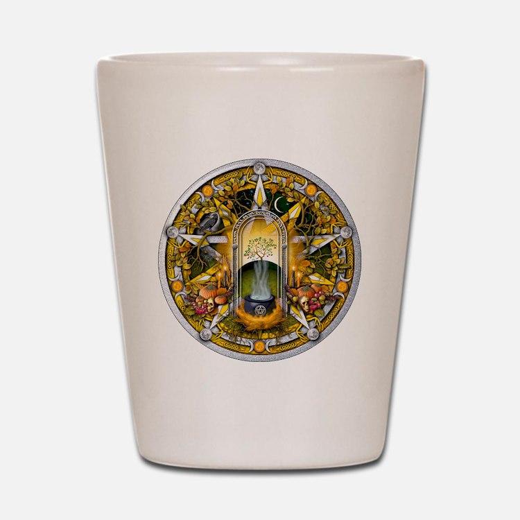 Samhain Pentacle Shot Glass
