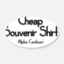 alpha centauri Oval Car Magnet