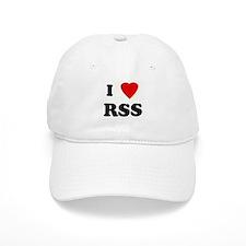 I Love RSS Baseball Cap