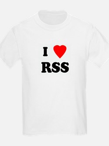 I Love RSS Kids T-Shirt