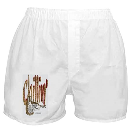 ChillinLeopard_IpodTouch Boxer Shorts