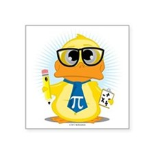 """Math-Duck Square Sticker 3"""" x 3"""""""