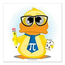 """Math-Duck Square Car Magnet 3"""" x 3"""""""