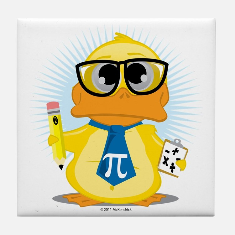 Math-Duck Tile Coaster