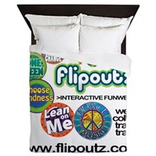 t-shirtback2white Queen Duvet