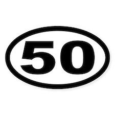 Ultramarathon 50 Mile Oval Stickers