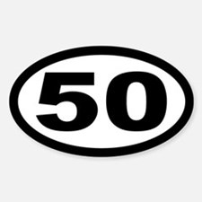 Ultramarathon 50 Mile Oval Stickers