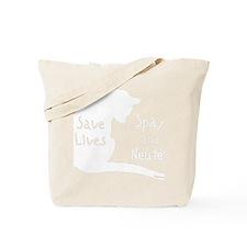 whitesavelivescat Tote Bag