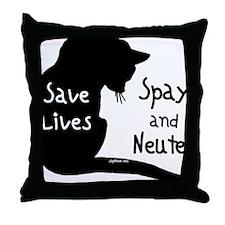 circle-savelivescat Throw Pillow