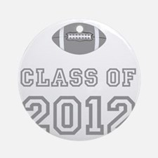 CO2012 Football Gray Round Ornament