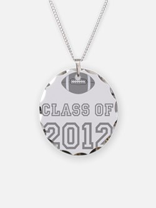 CO2012 Football Gray Necklace Circle Charm