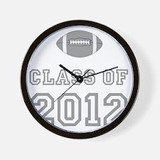 CO2012 Football Gray Wall Clock