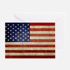 5x3rect_sticker_american_flag_old Greeting Card