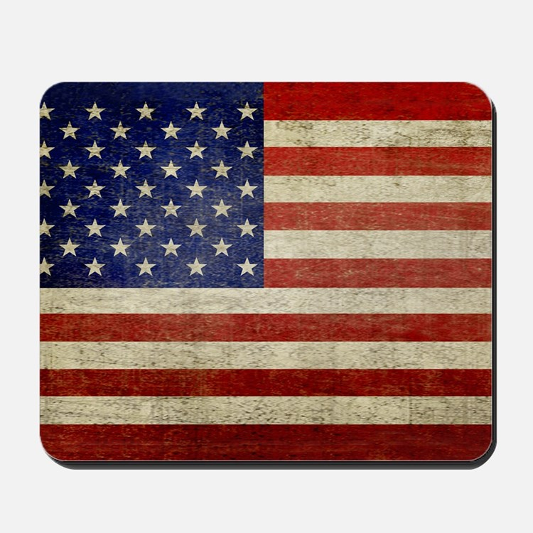 5x3rect_sticker_american_flag_old Mousepad