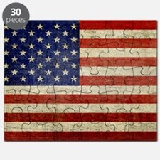 5x3rect_sticker_american_flag_old Puzzle