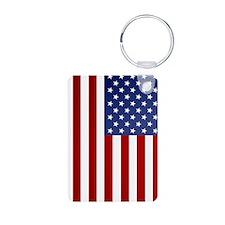 5x8_journal_american_flag Keychains