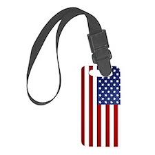 5x8_journal_american_flag Luggage Tag