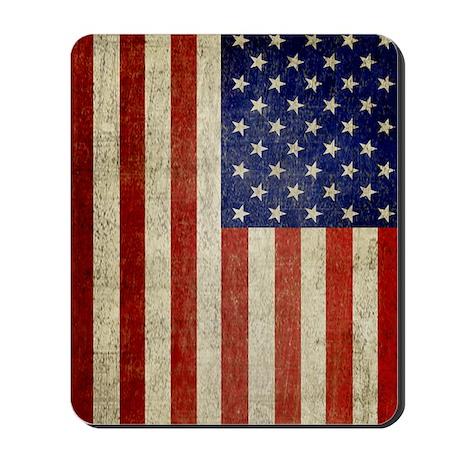 5x8_journal_old_american_flag_usa Mousepad