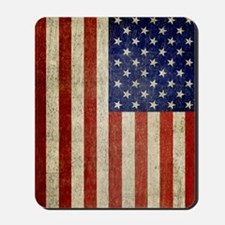 5x8_journal_old_american_flag_usa Mousepad