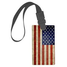 5x8_journal_old_american_flag_us Luggage Tag