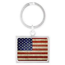 5x3oval_sticker_old_american_fl Landscape Keychain