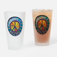 peacethrumusiccoin Drinking Glass