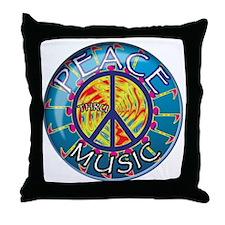peacethrumusiccoin Throw Pillow