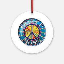 peacethrumusiccoin Round Ornament