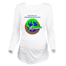 SSI- 2ND ASSAULT AMP Long Sleeve Maternity T-Shirt