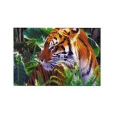 tiger laptop Rectangle Magnet