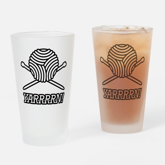 yarrrrn inked Drinking Glass