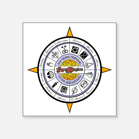 "Compass 2011 - NEW Square Sticker 3"" x 3"""
