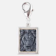 Bold Lion Silver Portrait Charm