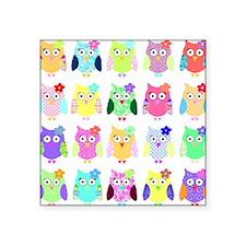 "owl copy Square Sticker 3"" x 3"""