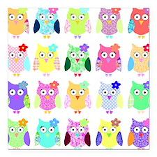 "owl copy Square Car Magnet 3"" x 3"""
