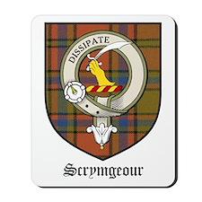 Scrymgeour Clan Crest Tartan Mousepad