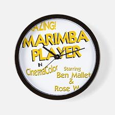 funny marimba player mallet musical ins Wall Clock