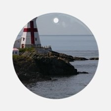 East Quoddy P Note Card Round Ornament
