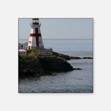 "East Quoddy P Note Card Square Sticker 3"" x 3"""