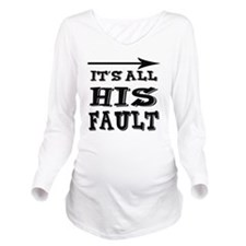 hisfault Long Sleeve Maternity T-Shirt