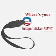 obama sticker(blk) Luggage Tag