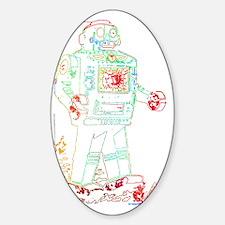 Robot 1 Sticker (Oval)