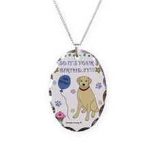 YellowLab Necklace Oval Charm