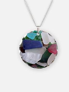 Emmas Ocean Glass Note Card Necklace