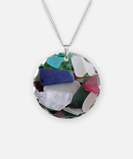 Emmas Ocean Glass Note Card Necklace