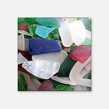 "Emmas Ocean Glass Note Card Square Sticker 3"" x 3"""