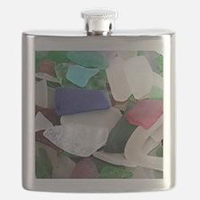 Emmas Ocean Glass Note Card Flask