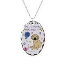 Puggle Necklace Oval Charm