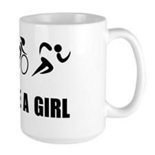Dry Fit Tri like A Girl Black Mug